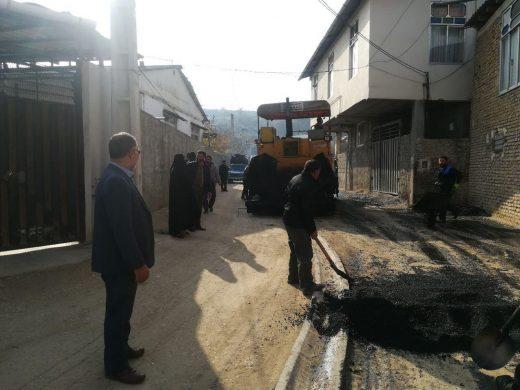 آسفالت سازی خیابان سعدی شرقی/عکس